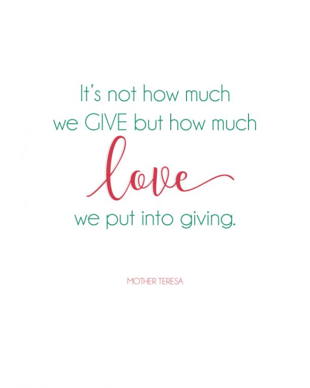 mother teresa an example of love in action Love seeks to serve – mother teresa  of prayer and works of love in action  involving blessed teresa she truly was a remarkable example of what we all.