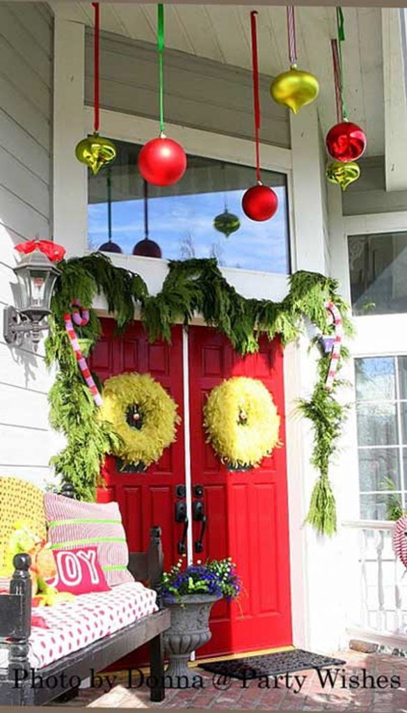 Grinch theme porch front porch ideas and more