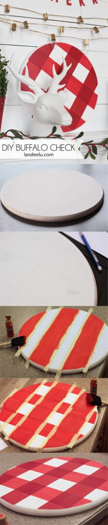 DIY Buffalo Check Using Paint... easy tutorial on how to paint the trendy buffalo check pattern on anything!