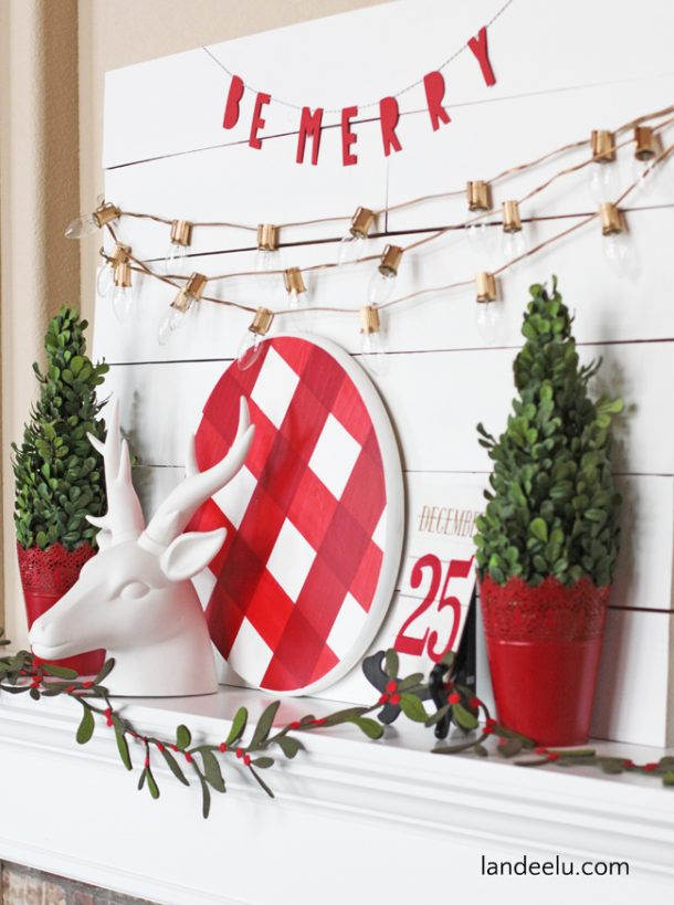 Landee Christmas Mantel