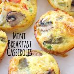 Mini Hashbrown Bacon and Veggie Breakfast Casseroles - Perfect for a brunch!