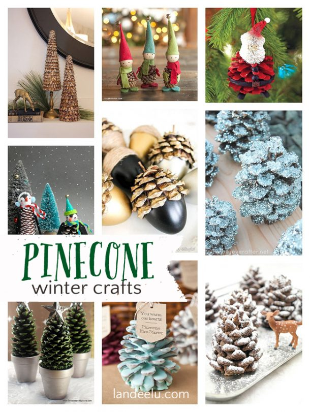 Awesome winter crafts using PINECONES! So many ideas!