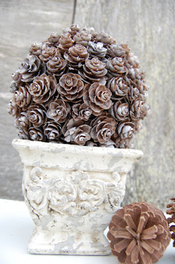 Pinecone Topiary Somewhat Simple