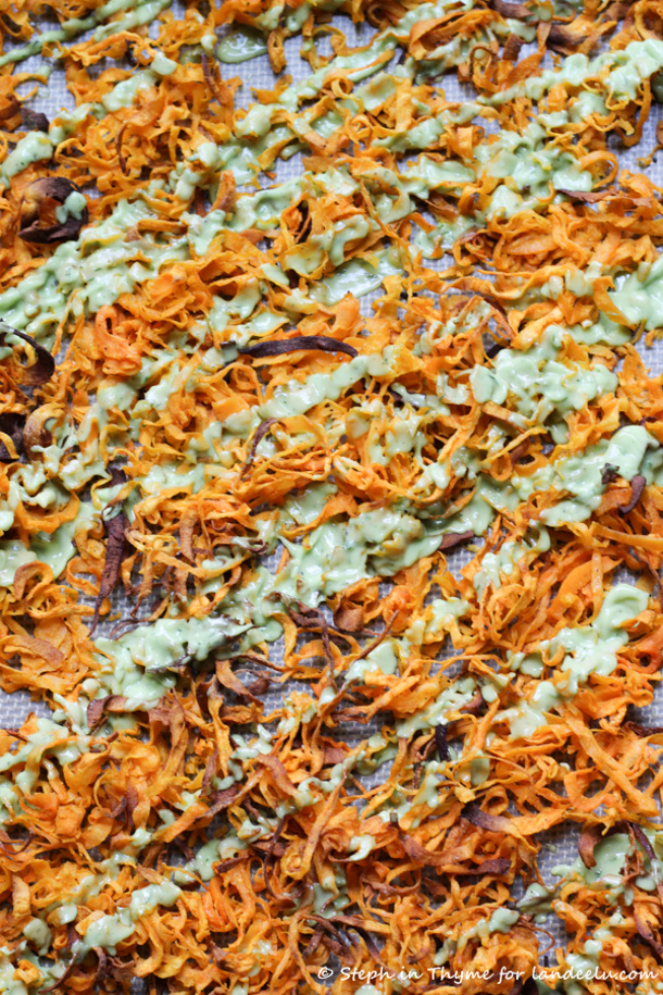 Spiralized-Sweet-Potato-Fries-with-avocado-dill-sauce