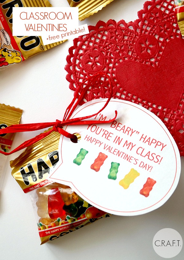 Fun and Easy DIY Valentines for Classmates landeelu – Printable Childrens Valentines Cards