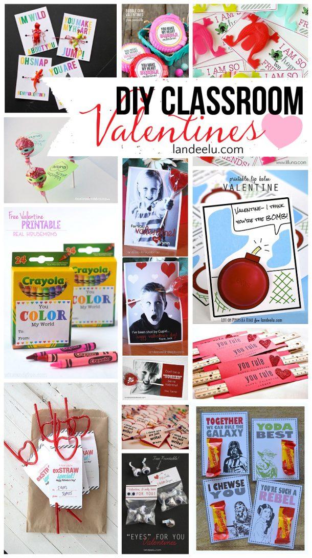 Fun And Easy Diy Valentines For Classmates Landeelu Com