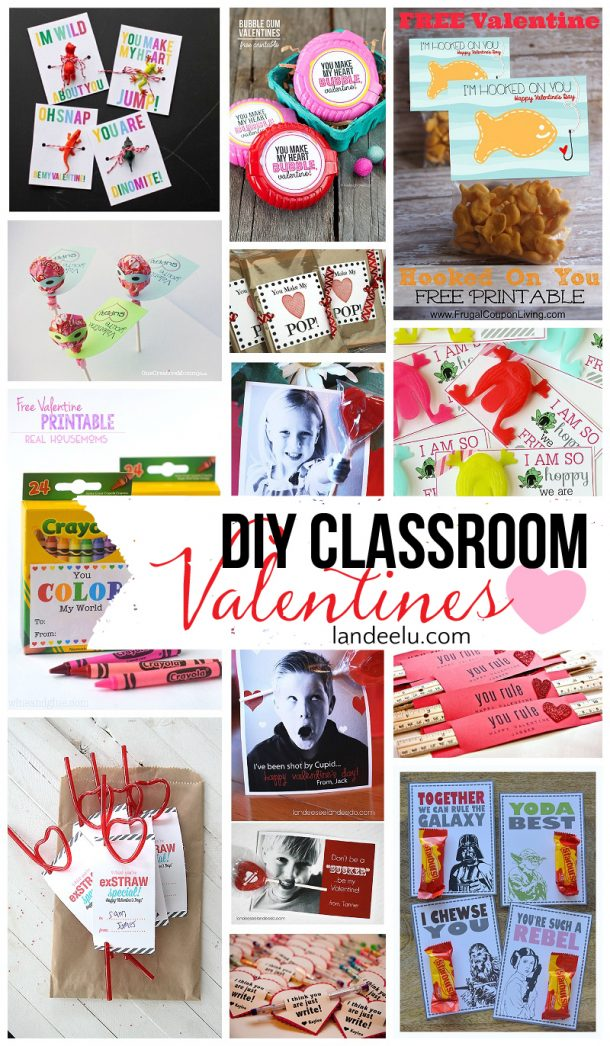 Free Printable Valentines Day Cards and Gift Tags landeelu – Class Valentines Cards