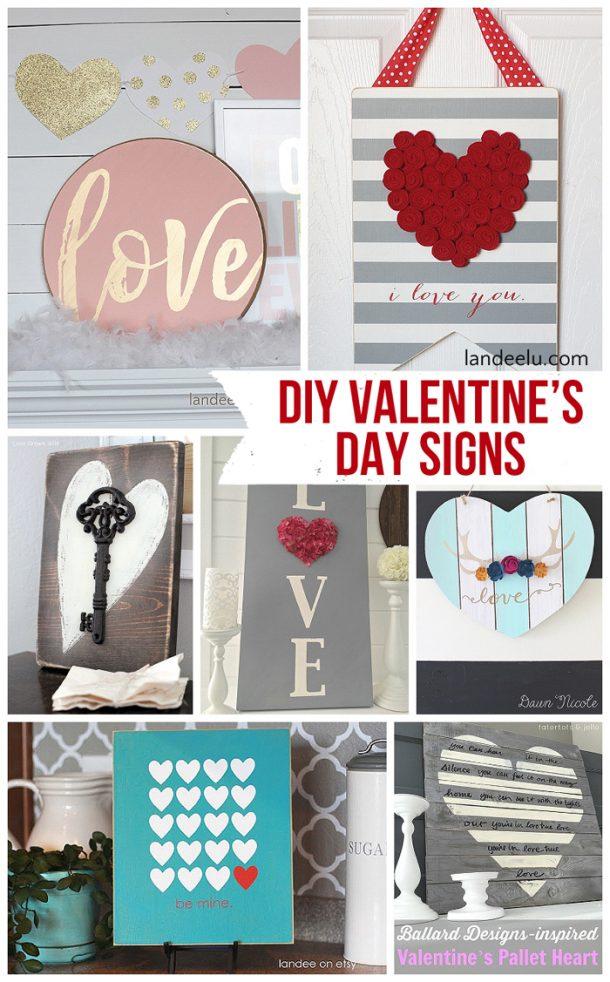 Diy Valentine S Day And Love Signs Landeelu Com
