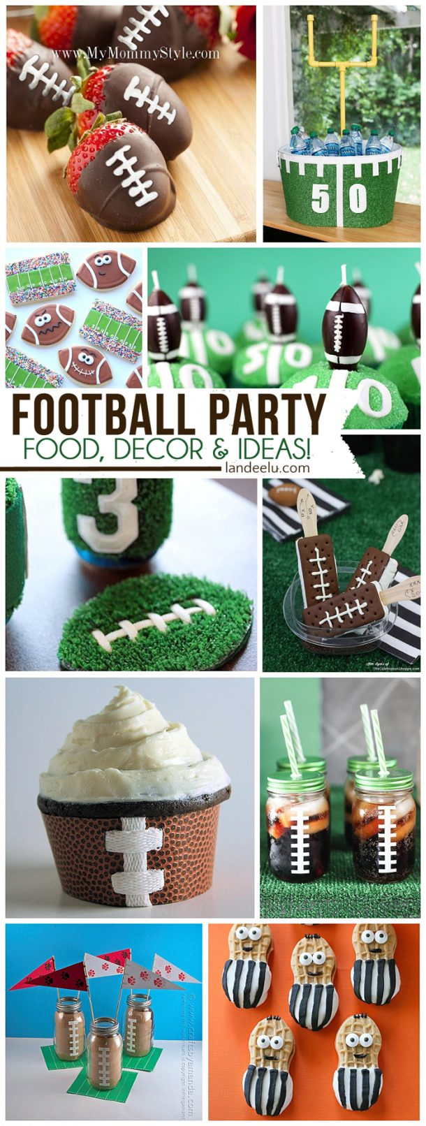 diy football party ideas perfect for team parties birthdays and super bowl. Black Bedroom Furniture Sets. Home Design Ideas