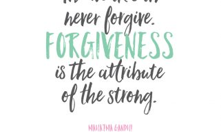 Beautiful, printable quote on forgiveness. Mahatma Gandhi | landeelu.com