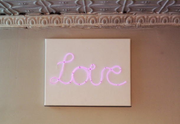 Love beauty neon sign poppytalk