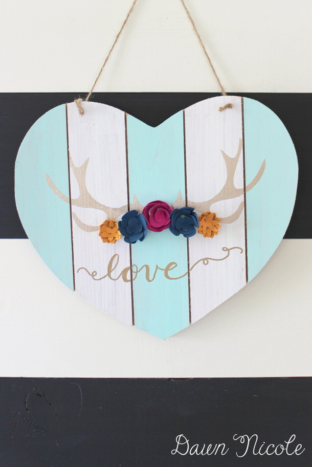 Silhouette-Saturday-Antler-Heart-Sign by dawn nicole