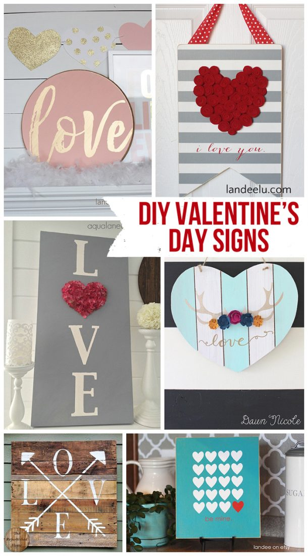 diy valentines day signs landeelucom so many fun diy signs to make for