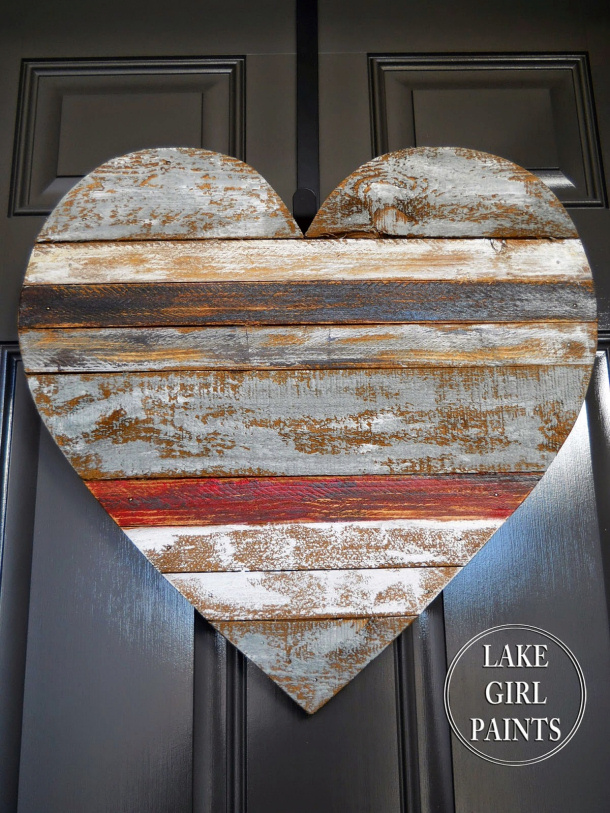 Diy valentine 39 s day and love signs - Scrap wood decorated house ...
