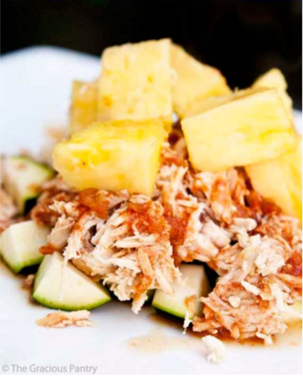 Clean Eating CrockPot Pineapple Chicken Recipe | the gracious pantry