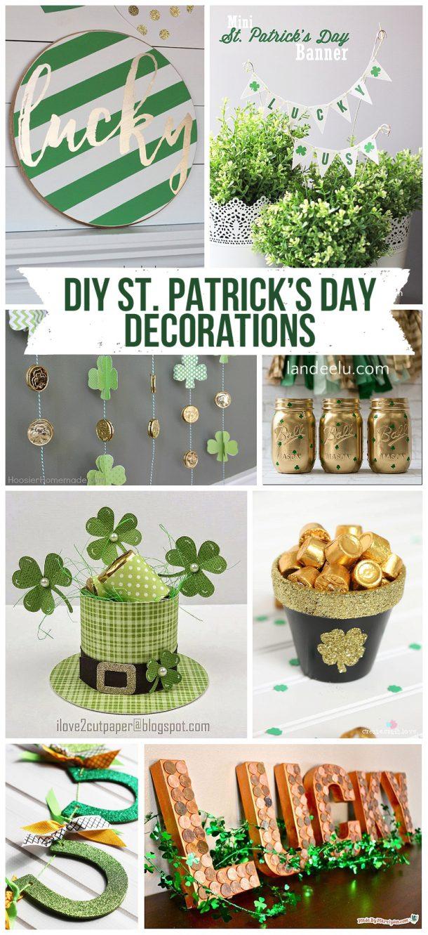 diy st patrick 39 s day decorations. Black Bedroom Furniture Sets. Home Design Ideas