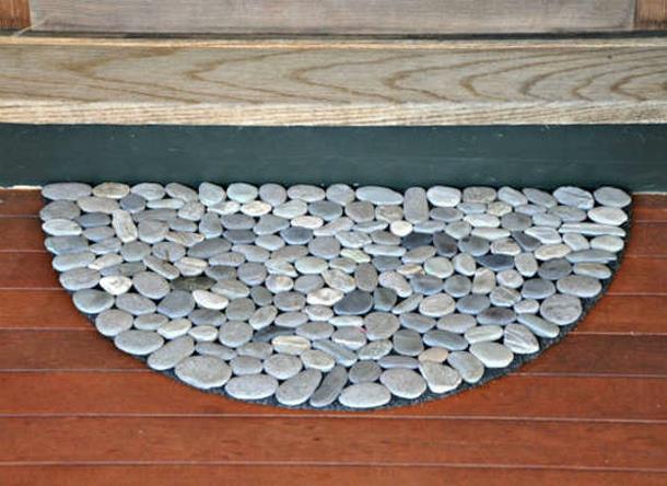 Thin River Rocks Doormat via Love u Madly