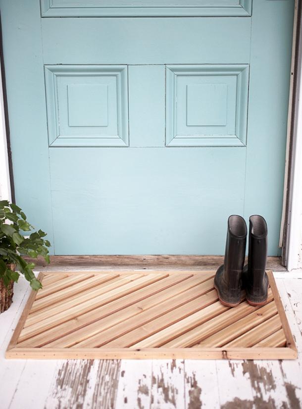 Wooden Slats Doormat DIY the merry thought