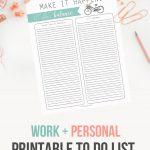 Balance To Do List Template Printable