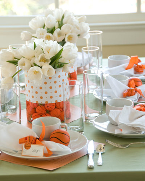 Basketball Centerpieces And Place Settings Divine Party Concepts