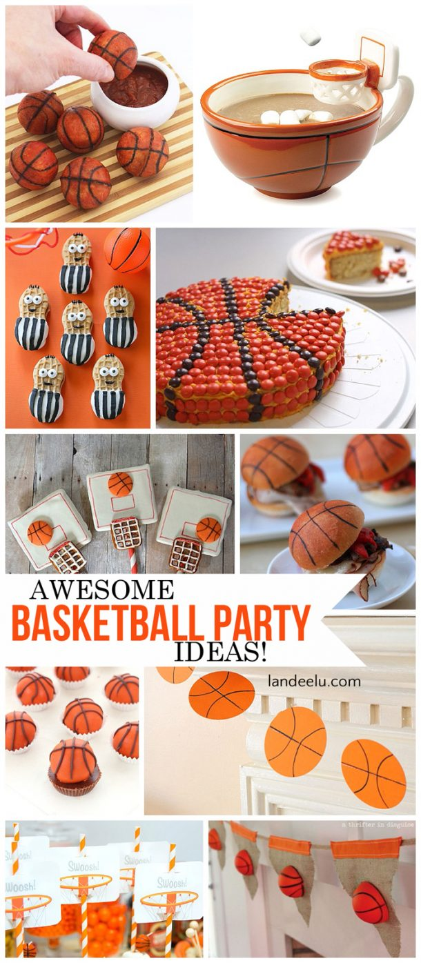 Basketball party treats and diy decorations for Basketball craft party ideas