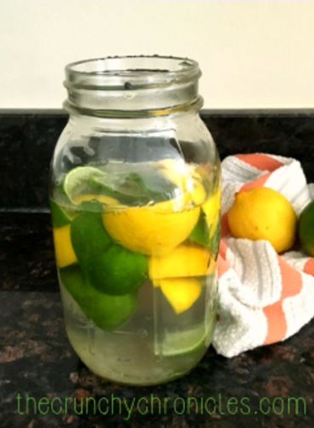 DIY citrus infused vinegar cleaner that smells good via the crunchy chronicles