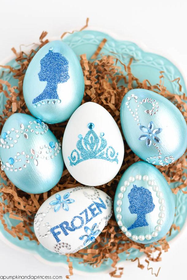 Disney-Frozen-Eggs-DIY a Pumpkin and a Princess