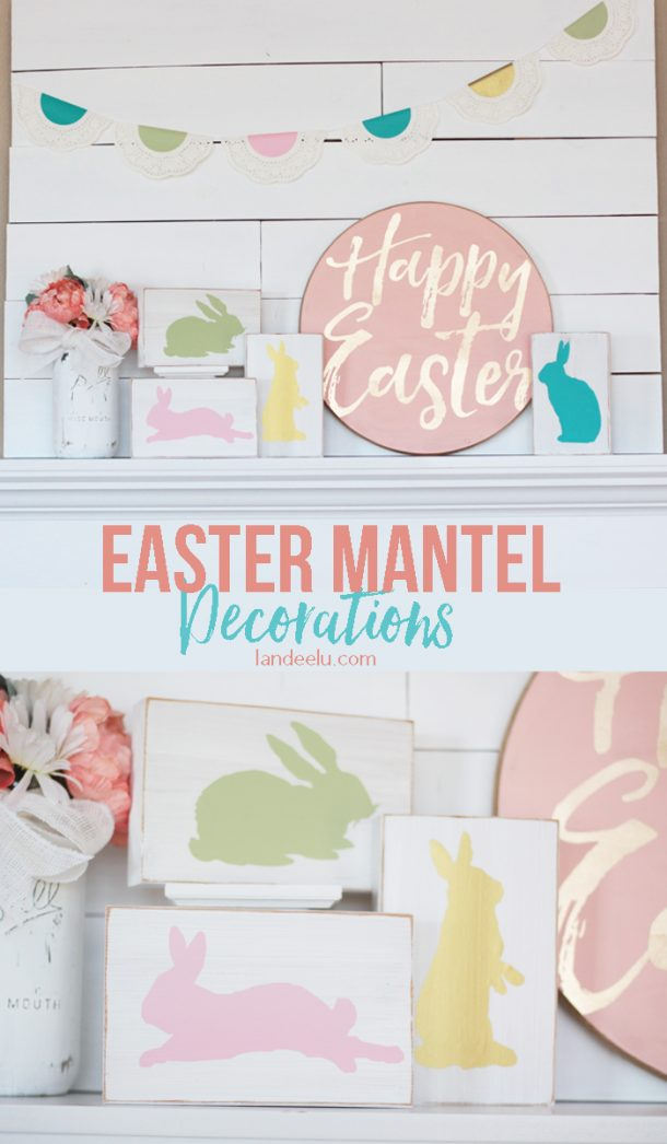 Easter Crafts Mantel Easter Sign Idea Landeelu Com