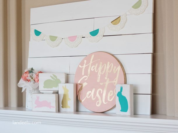 Easter Mantel Decor Easter Crafts
