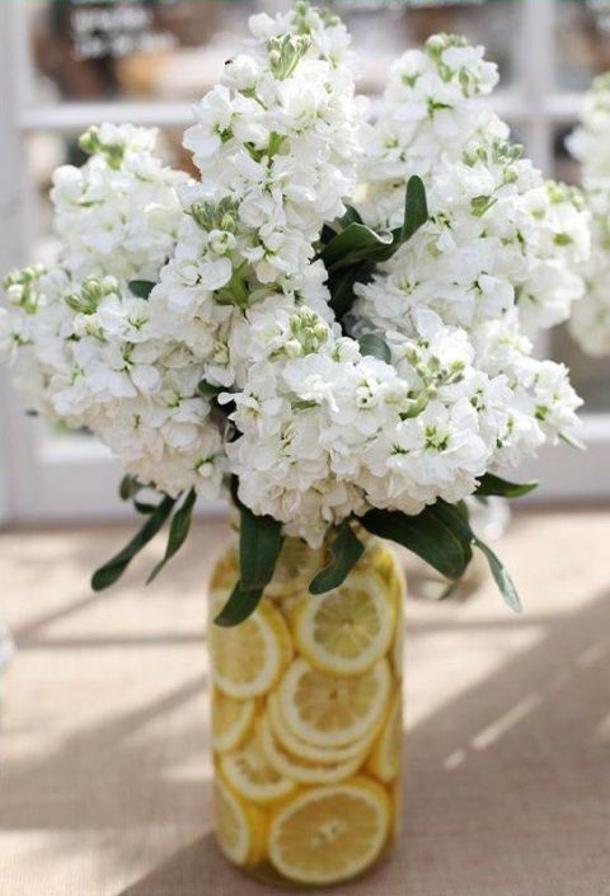 Lemon Slices in Vases House Beautiful