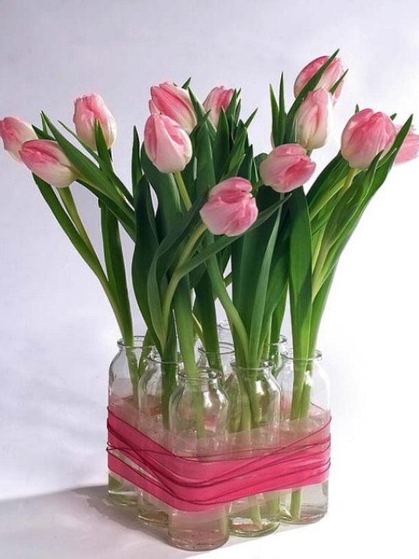 diy-spring-rose-tulips-centerpiece- shelterness