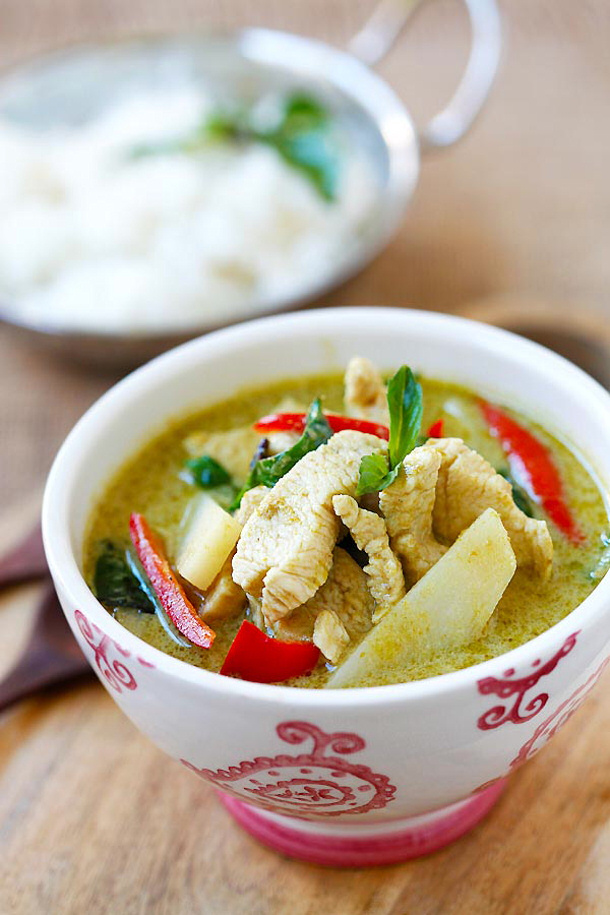 Chicken Curry Recipe - Thai Chicken Green Curry Recipe via Rasa ...