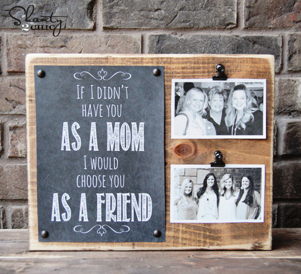 DIY gift ideas for Mothers Day - DIY Mothers Day Printable and Photo Board Tutorial Shanty2Chic