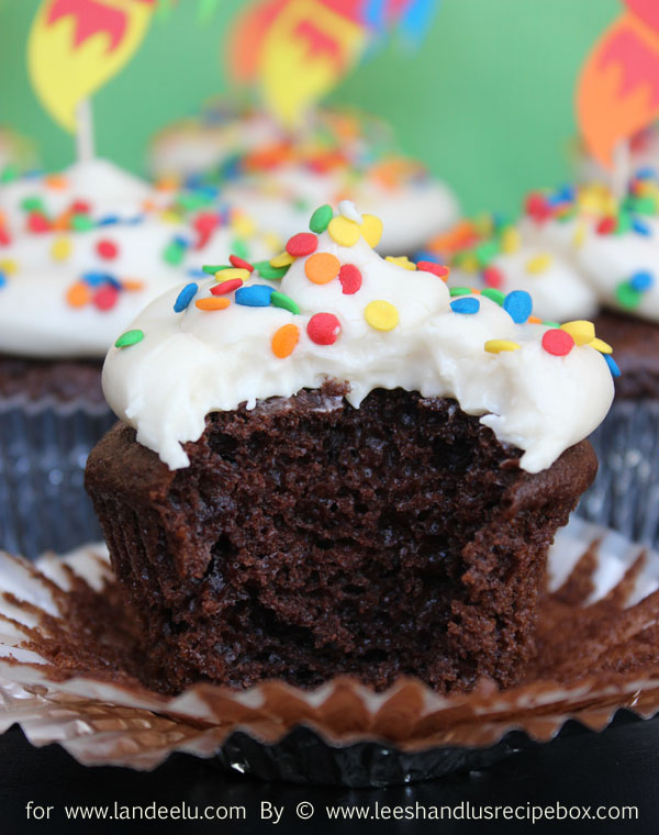 Simple Doctored Cake Mix Chocolate Cupcakes
