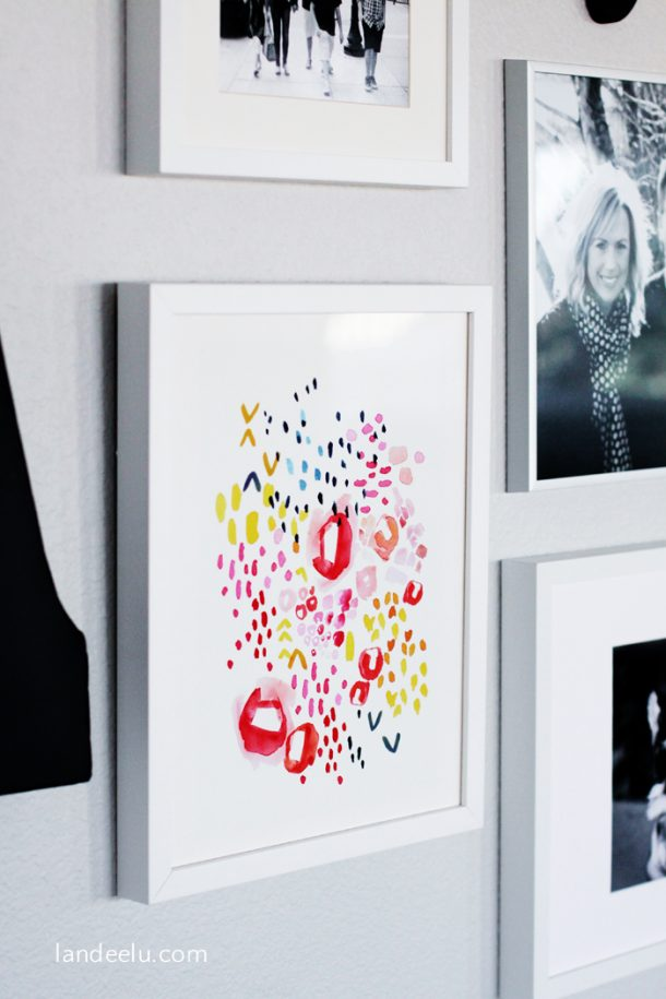 Gallery Wall with Minted Art | landeelu.com