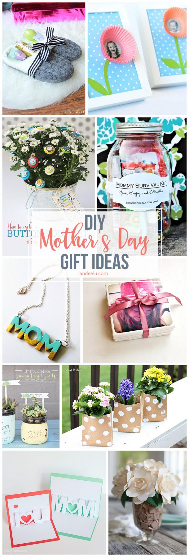 Secure your spot as favorite child and make one of these awesome DIY mothers day gifts for mom this year!