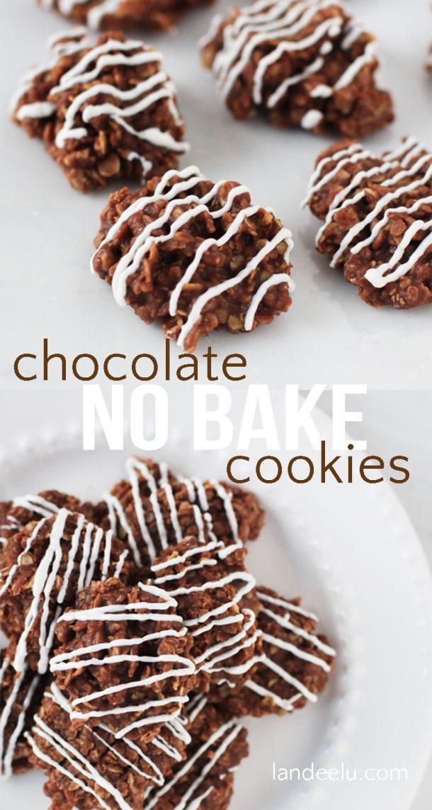 Chocolate No Bake Cookies - landeelu.com