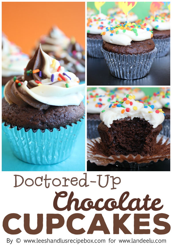 Doctored Vanilla Cake Mix Cupcakes