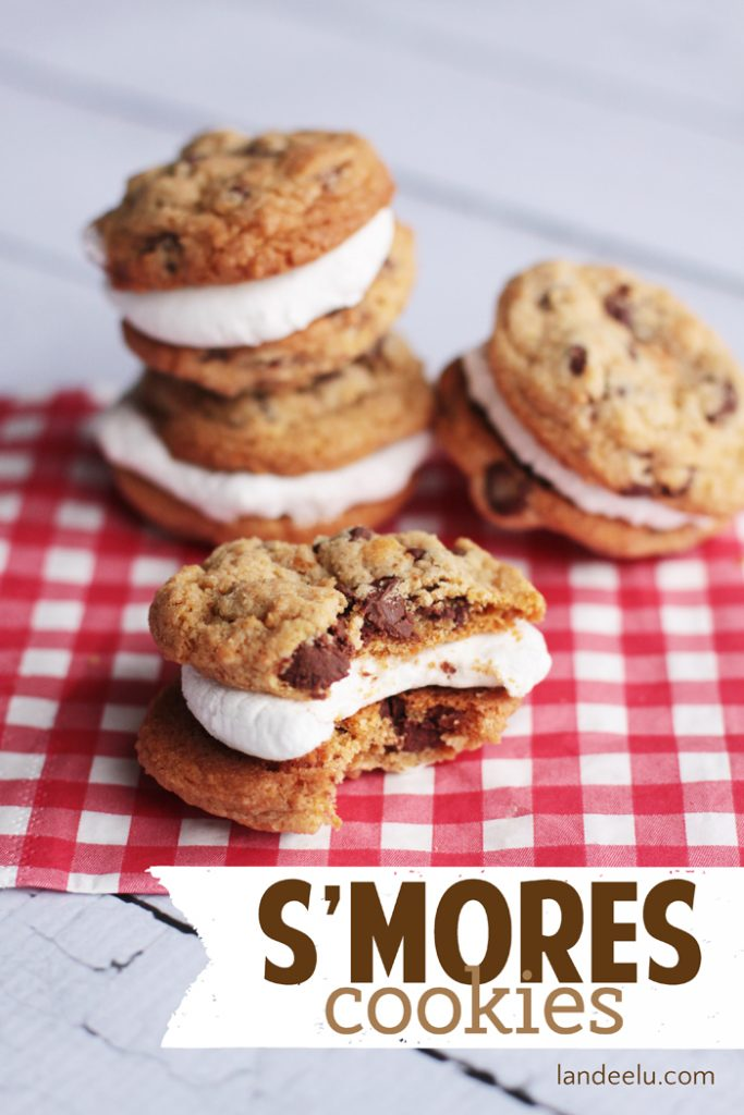 These s'mores cookies taste just like the ones you make over the ...