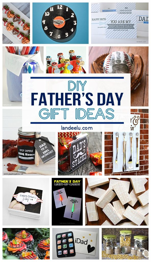 21 DIY Father's Day Gifts to Celebrate Dad - landeelu.com