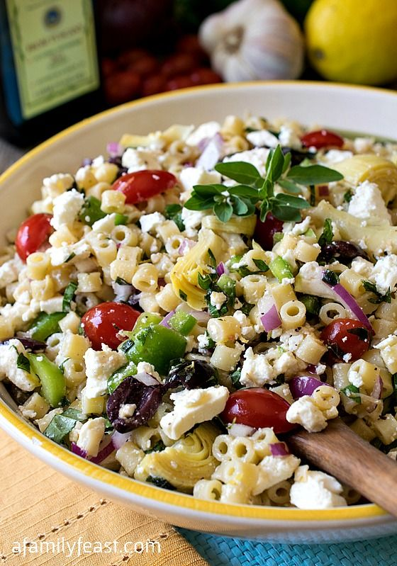 Pasta Salad Recipe   Meiterranean Pasta Salad Recipe   The Perfect Side  Dish To Bring To