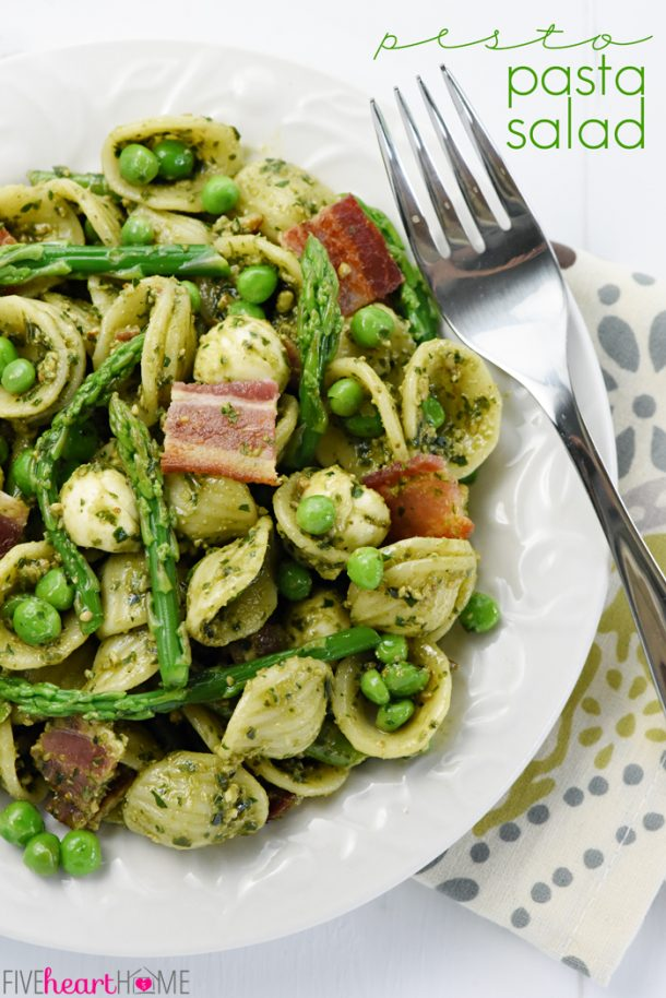 pesto and peas pasta salad with peas and pesto recipes dishmaps peanut ...
