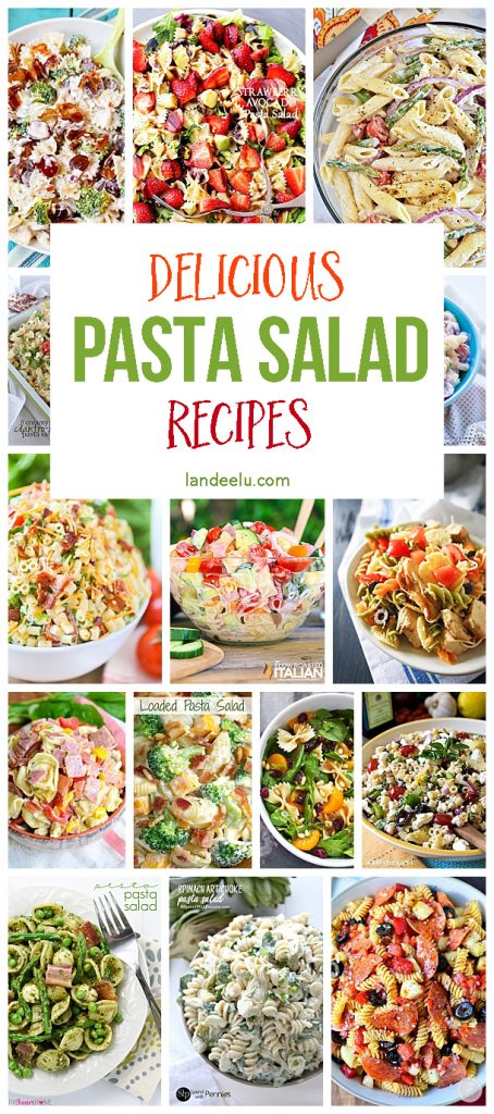 A HUGE pasta salad recipe collection! Perfect for the summer months coming up!