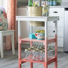 DIY Beverage Station: Ombre Paint Technique