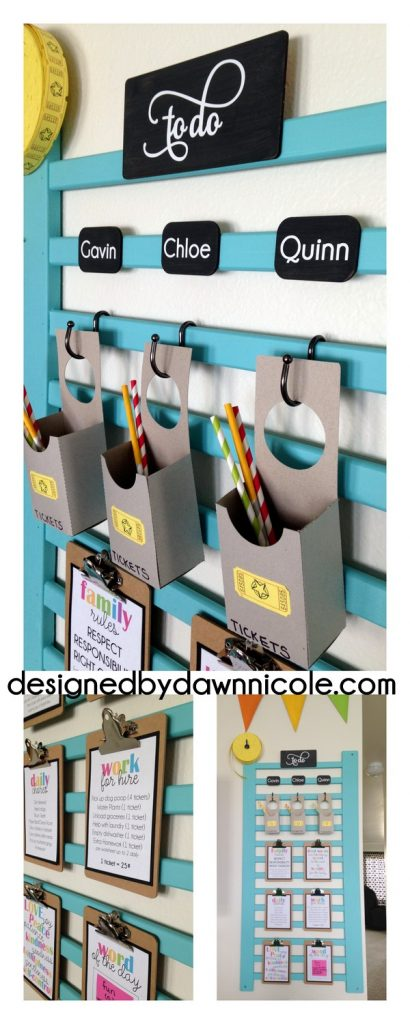 DIY Chore Charts - Respect Responsibility & Right Choices - DIY Kids and Family Chore and Behavior System Center with Free Printables By Dawn Nicole
