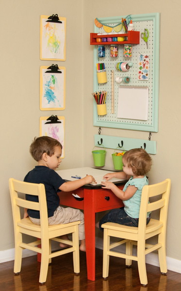 Diy back to school homework stations for Creating a playroom