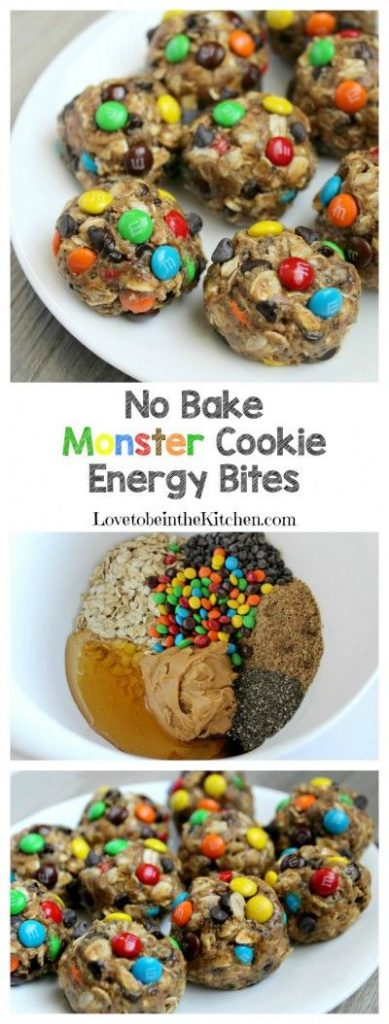 No Bake Cookies Recipes - No Bake Monster Cookie Energy Bites Recipe ...