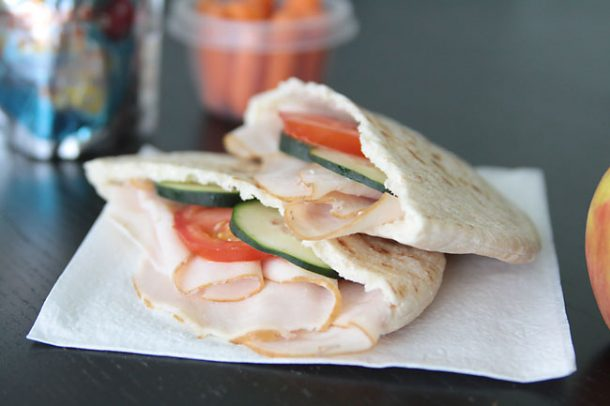 Turkey Cream Cheese Pita Pockets - Fun Back to School Lunch Recipe and Ideas via Its Always Autumn