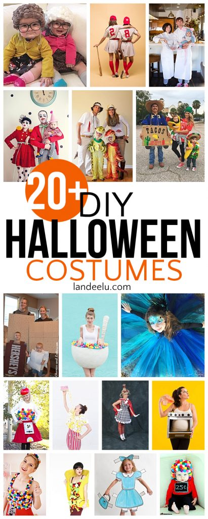 So many fun DIY halloween costumes! Family Halloween costume ideas too!