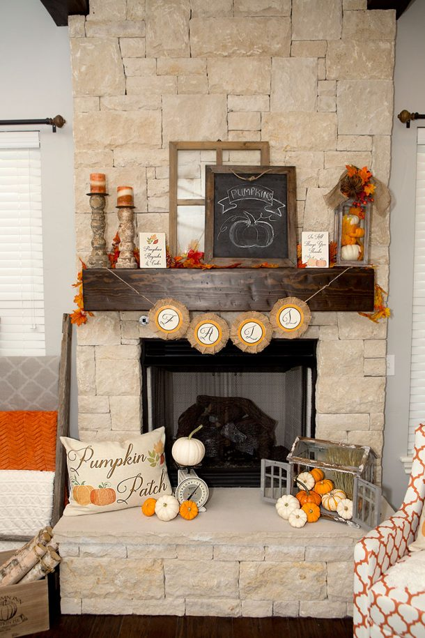 Diy fall mantel decor ideas to inspire for Home decoration pics
